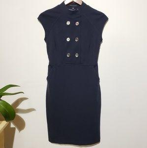 Dark navy blue Banana Republic dress with pockets